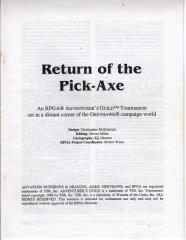 Series #2 - Greyhawk, Return of the Pick-Axe