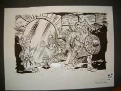 "#13 TSR AD&D - I7 Baltron's Beacon - 12"" x 7"" Original Ink"