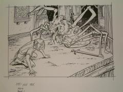 "#18 TSR AD&D - The Rod of Seven Parts - 11"" x 7.5"" Original Ink"