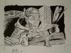 "#26 TSR AD&D - The Rod of Seven Parts - 11"" x 8"" Original Ink"