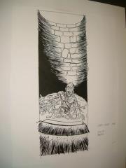 """#28 TSR AD&D - The Rod of Seven Parts - 5.5"""" x 14"""" Original Ink"""