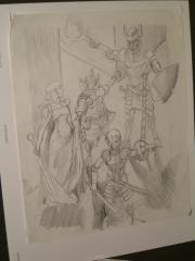 "#30 TSR AD&D - Dungeoneer's Survival Guide - 12"" x 16"" Original Pencil (Draft)"