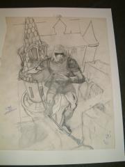 """#36 TSR AD&D - Unearthed Arcana - 12"""" x 17"""" Original Pencil (Draft)"""