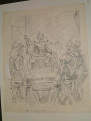 "#4 TSR AD&D - Dungeoneer's Survival Guide - 12"" x 14"" Original Pencil (Draft)"