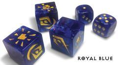 Premium Attack Dice - Royal Blue w/Gold (5)