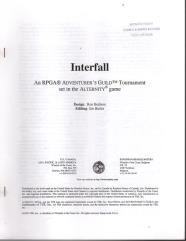Series #5 - Alternity, Interfall