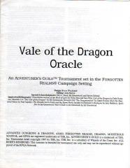 Series #1 - Forgotten Realms - Vale of the Dragon Oracle