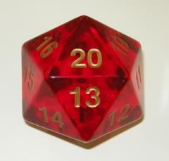 d20 55mm Red w/Gold