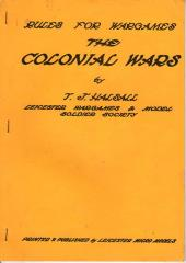 Rules for Wargames - The Colonial Wars