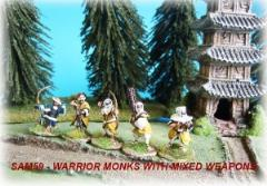 Warrior Monks w/Mixed Weapons