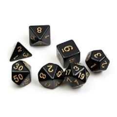 Solid Black w/Gold (8)