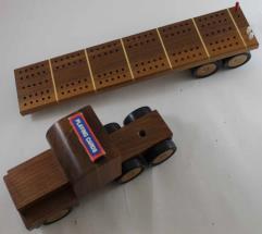 Semi Trailer Cribbage Board