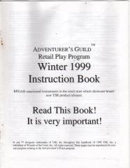 Series #5 - Adventurer's Guild Retail Play Instruction Book, Winter 1999