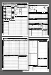 Advanced Character Record Sheets