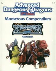 Monstrous Compendium Spelljammer Appendix #1