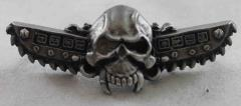 Skull w/Chainswords Mega Badge