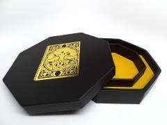 Dice Rolling Tray w/Dice Staging Area and Lid - Spellbook