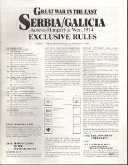 Great War in the East - Serbia/Galicia