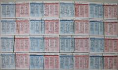 1954 Player Cards