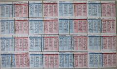 1960 Player Cards