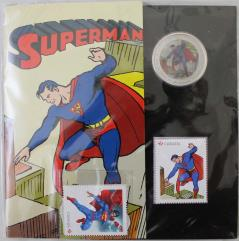 Superman Coin and Stamp Set - Then and Now