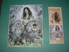 "TSR Spellfire 1st Edition - Birthright #106 ""Animal Affinity"" - 6.5"" x 8"" Original Painting"