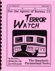 "Terror Watch #6 & 7 ""Friday the 13th Survival Guide, The 6th Reich, Jumanji and Bureau 13"""
