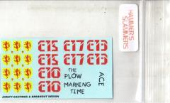 Blower Tank Decals 1 - The Plow, Marking Time, Ace