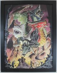 Tiamat - Art Print on Canvas (Limited Edition)