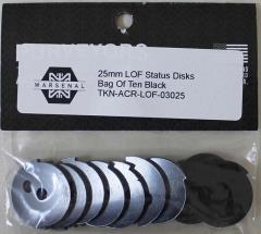 25mm LOF Status Discs - Black