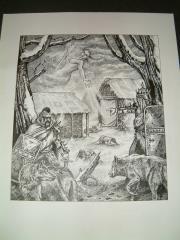 "Tony Szczudlo #3 - 8"" x 10"" Original Ink"