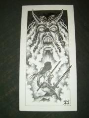 "Tony Szczudlo #2 - 3.5"" x 8"" Original Ink"