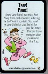 CIZ Munchkin Promo Cards 2 Star Trap Panic and Game Mechanic 2 card LOT