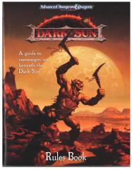 Dark Sun (1st Edition) - Rules Book Only!