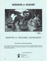 Monster & Treasure Assortment Set #3 - Levels 7-9 (3rd/4th Printings, Wizard Logo)