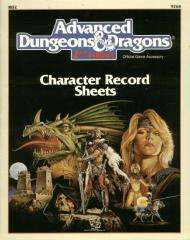 Character Record Sheets (1st Printing, White)