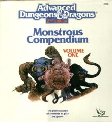 Monstrous Compendium Volume #1 - No Box or Binder