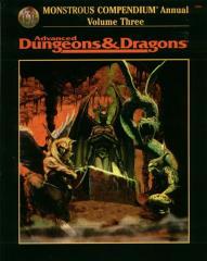Monstrous Compendium Annual #3