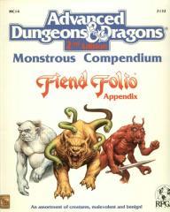 Monstrous Compendium - Fiend Folio Appendix