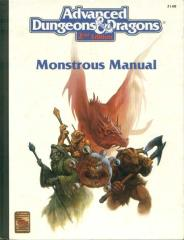 Monstrous Manual (2nd-6th Printings, White Cover)