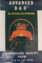 AD&D 1st Edition Player's Handbook Promo Poster