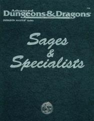 Sages & Specialists