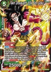 Twin Onslaught SS4 Son Goku