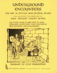 Underground Encounters Cards (1st-4th Levels)