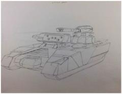 Battletech Unused Concept Art - Little John Tank
