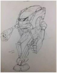 Battletech Unused Concept Art - Wyvern Mech