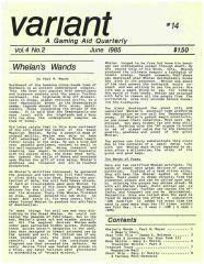 """Vol. 4, #2 """"Whelan's Wands, Ghost Ship Scenario"""""""