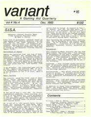 "Vol. 4, #4 ""Potion Power, Throne of Wisdom Scenario, Space Marines Variant for Intruder"""