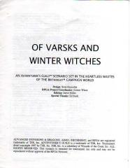 Series #1 - Birthright - Of Varsks and Winter Witches