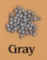 D6 5mm Gray w/White (10)